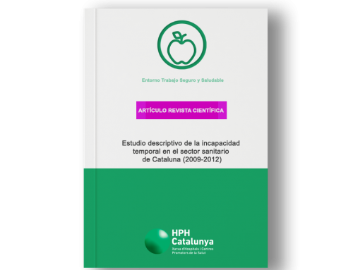 Estudio descriptivo de la incapacidad temporal en el sector sanitario de Cataluña (2009-2012)