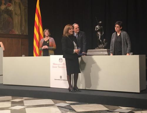 Dolors Juvinyà rep la medalla Josep Trueta 2019, de la Generalitat de Catalunya.