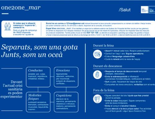 Iniciativas para el bienestar emocional de los profesionales y la mejora de la comunicación durante la crisis del coronavirus en PSMAR